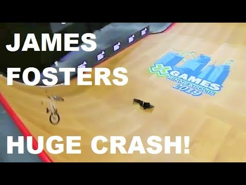 James Fosters Huge Crash Bmx Big Air X Games