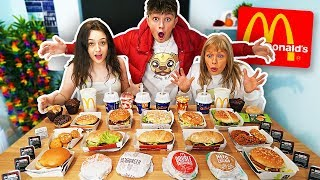connectYoutube - ENTIRE McDonald's Menu in 10 MIN Challenge!! *WORLD RECORD*