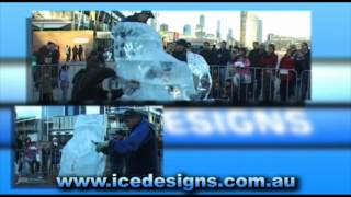 Ice Lion, Docklands - Ice Carving By Down Under Ice Designs