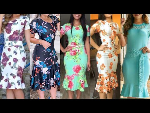 Most Western Style Trandy Outfits Women Floral Print Flare Style Bodycon Dress