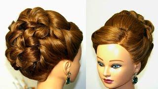 Прическа для длинных и средних волос. Вечерняя, свадебная