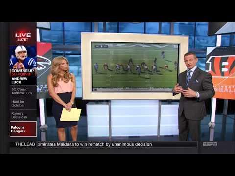 Jade McCarthy(walking rear shots) & Sara Walsh from ESPN Sportscenter