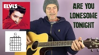 Elvis - Are you Lonesome - Guitar lesson by Joe Murphy
