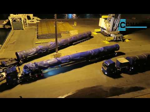 How to TRANSPORT more than 40 meters long CARGO as pro | Convoi Exceptionnel | Comark