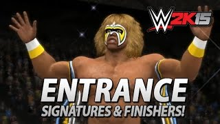 WWE 2K15: Ultimate Warrior Entrance, Signatures & Finishers