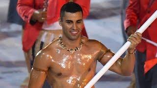 Tonga's Flagbearer going to the Winter Olympics