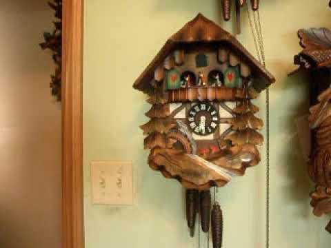 Water Wheel and Spinning Dancer 1 day cuckoo clock