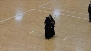 2016 全日本女子学生剣道選手権 1回戦 筑波大 合瀬 vs 徳山大 田中