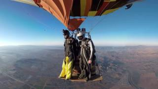 Wingsuit Skydive Hot Air Balloon Jump 360 Video