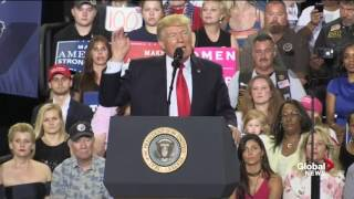 Donald Trump marks 100th day in office with rally in Pennsylvania