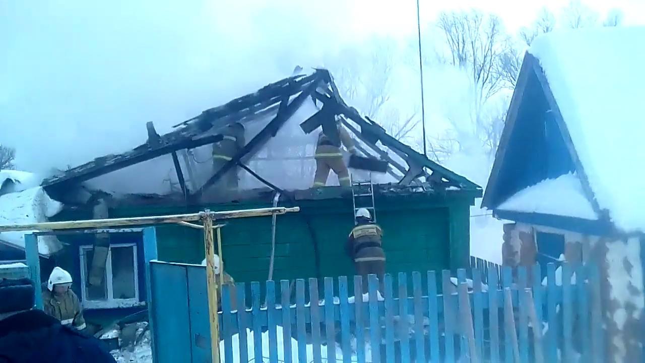 В селе Среднее Аверкино горел частный дом