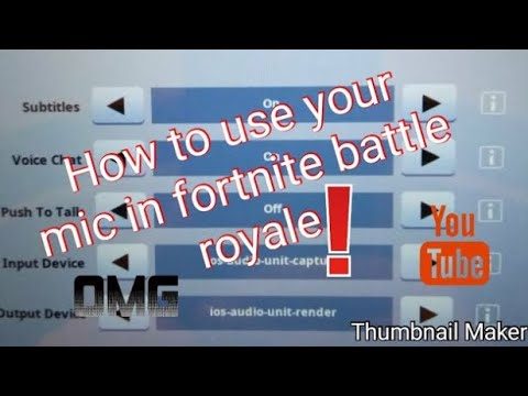 How To Use Your Mic 🎤 In Fortnite Mobile