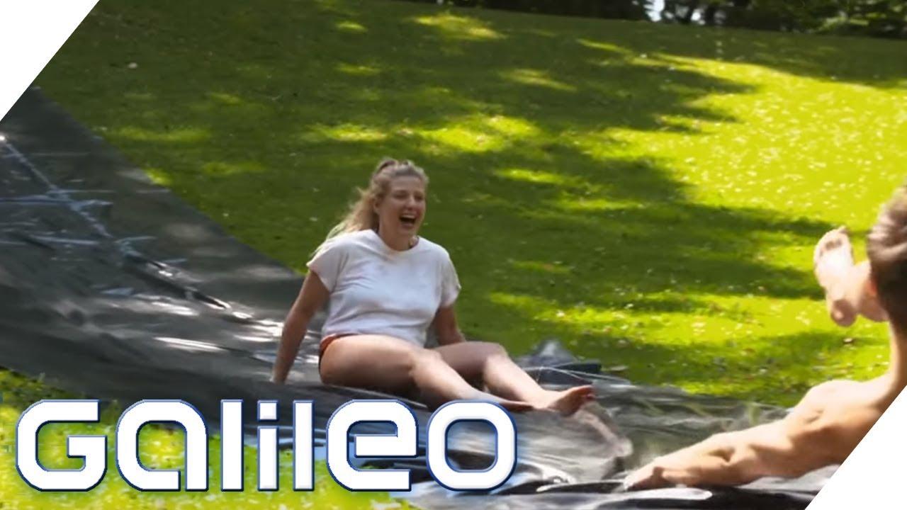 Eigene Wasserrutsche und Co.: Urlaubsfeeling für 50 Euro | Galileo | ProSieben