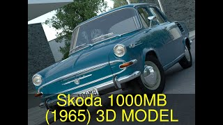 3D Model of Skoda 1000MB (1965) Review