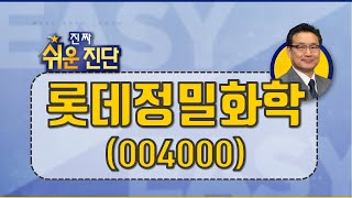 롯데정밀화학(004000), 60일선 유지, 3차 상승…