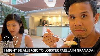 I MIGHT BE ALLERGIC TO LOBSTER PAELLA IN GRANADA! | 5 STAR RESTAURANT REVIEW | VLOG 99