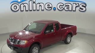 G98305NC Used 2017 Nissan Frontier SV RWD Long Bed Red Test Drive, Review, For Sale
