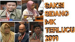 Kumpulan Video Lucu saksi sidang Perkara pilpres di MK Tahun 2019