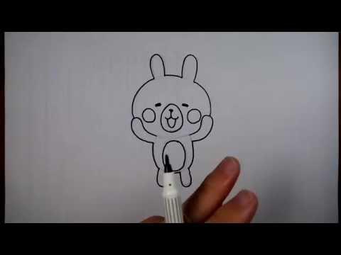 วาดการ์ตูน กันเถอะ สอนวาดรูป การ์ตูน กระต่าย สีชมพู อุซางิ