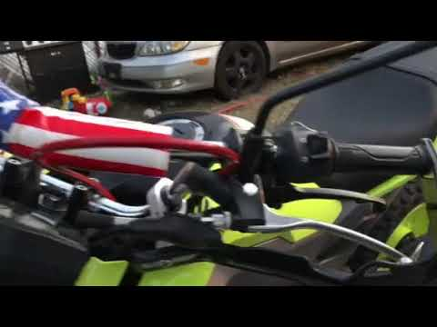 Honda Grom hand brake setup