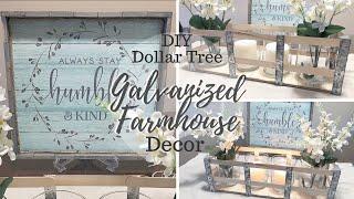 Diy Dollar Tree Galvanized Farmhouse Decor