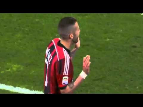 Jeremy Menez Red Card - AC Milan vs Genoa