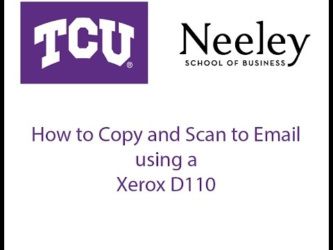 How to copy, scan to email, and fax on a Xerox WorkCentre D110