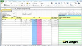 Bet Angel - Linking multiple football matches to one spreadsheet