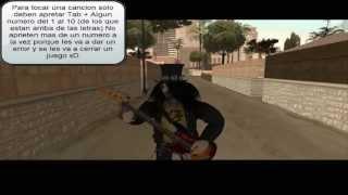 Skin de Slash + Mod para tocar el bajo en GTA San Andreas