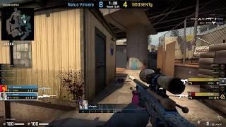 CS:GO POV Demo Na'Vi S1mple (22/11) vs GODSENT (de_overpass)