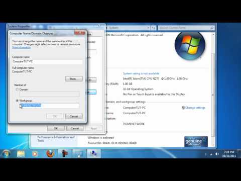 how to connect workgroup computers in windows 7