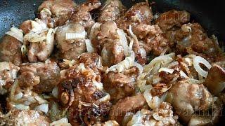 Вкусно и просто: куриная печень с луком.Пошаговые рецепты, видео.