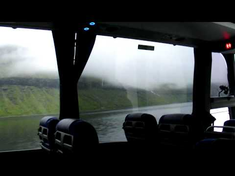 Bus ride from Vagar airport to Torshavn, Faroe Islands