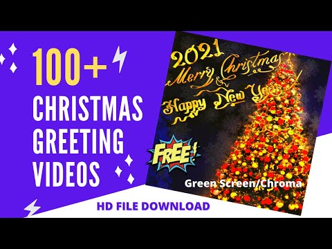 100 Christmas and New Year Green Screen