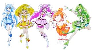 How to draw Characters from Smile Pretty Cure | D4K