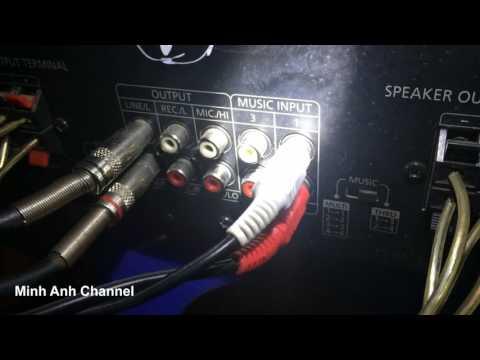 Cách cắm thêm loa Sub ,loa siêu trầm cho dàn Karaoke, cách lắp sub với âm ly Jarguar PA506N