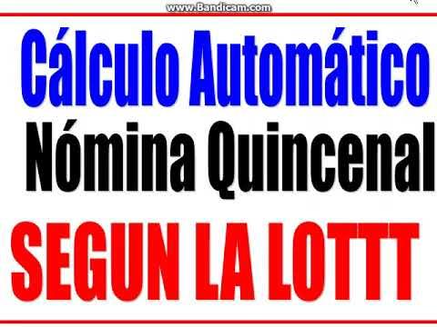 Calculo De La Nomina Semanal Y Quincenal Sin Impuestos Doovi