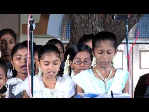 70 Voice choir when Bhagavathar Vedanayagam Sastriar visited Holy Trinity Church, Pragasapuram