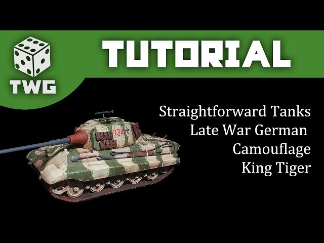 Bolt Action Tutorial: How To Paint WW2 Late War German Tanks -  King Tiger