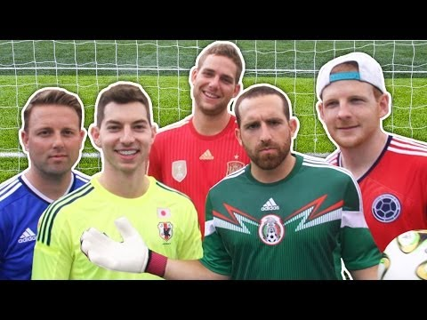 Dude Perfect Vs. STR Skill School | Free Kick Challenge!