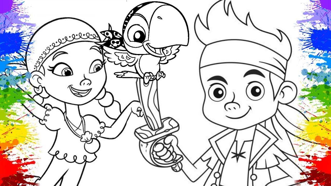 Colorindo Desenho Capitao Jake E Os Piratas Da Terra Do Nunca