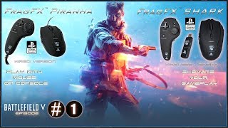 BATTLEFIELD V PS4 BETA EARLY ACCESS - FRAGFX SHARK PS4 GAMING MOUSE - OFFICIALLY SONY LICENSED