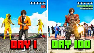 I Survived 100 DAYS in a ZOMBIE APOCALYPSE! (GTA 5 Mods)