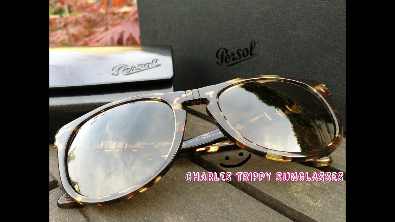 a81157a07383f Charles Trippy Persol Sunglasses Tabacco Virginia Size 54 PO3055S Polarized  985   57 Unboxing CTFxC