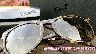 Charles Trippy Persol Sunglasses Tabacco Virginia Size 54 PO3055S Polarized 985 / 57 Unboxing CTFxC