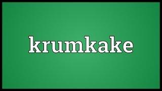 Krumkake Meaning