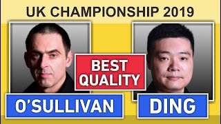 Ronnie O'Sullivan v Ding Junhui | UK Snooker Championship 2019 HD 50 fps
