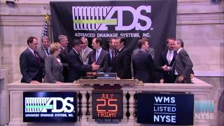 Advanced Drainage Systems Inc. Celebrates Ipo On The New York Stock Exchange