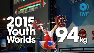 94kg Best Lifts 2015 Youth World Championships