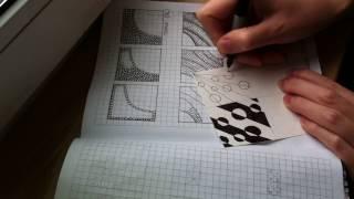 8 урок по рисованию. (Зентангл. Дудлинг. Раскраски антистресс.)